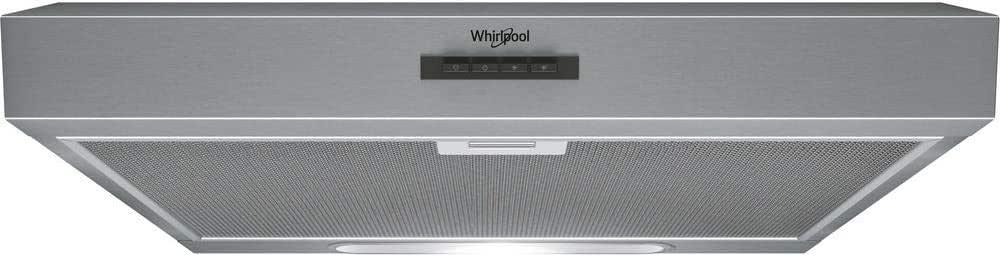 Whirlpool WSLK 66/1 AS X - Campana (384 m³/h, Canalizado/Recirculación, C, D, C, 69 dB): Amazon.es: Hogar