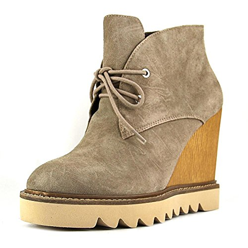 Bcbgeneration Women's Nariska Suede Smoke Taupe Ankle-High Suede Boot - 7.5M