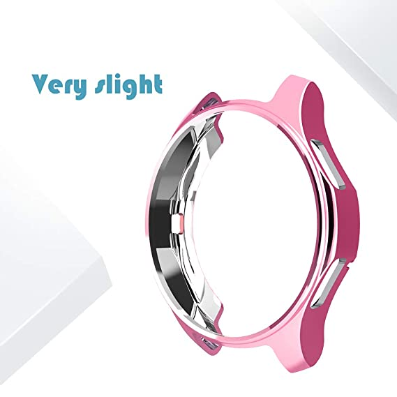 Plated TPU Protective Watch Case for Samsung Gear S4 Frontier, Scractch-Resist Bumper Frame Protective Cover Shell for Samsung Gear S4 ...
