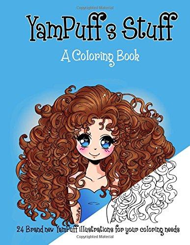Amazon YamPuffs Stuff A Coloring Book 9781519172624 Yasmeen H Eldahan Books