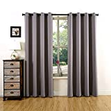Energy Saving Curtains YOJA Energy Saving Grommet Thermal Blackout Curtains for Bedroom Dark Grey,52