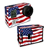 MightySkins Protective Vinyl Skin Decal Cover for GoPro Hero3 Camera Digital Camcorder wrap sticker skins American Flag