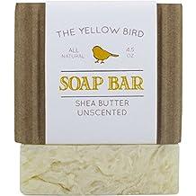 Fragrance Free Soap for Sensitive Skin. Hypoallergenic Soap Bar. Natural, Unscented, Organic Ingredients. Moisturizing Shea Butter Soap. Vegan, Artisan, Handmade Soap.