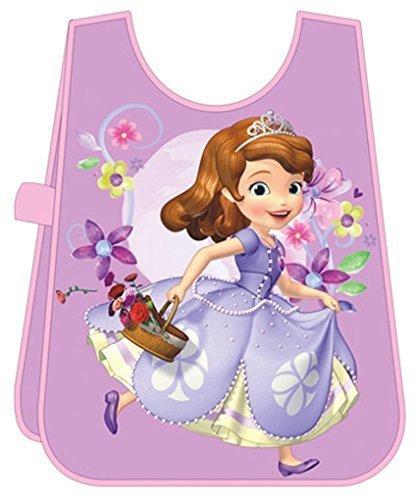 Tablier de peinture ou Bavoir plastique enfant fille Princesse Sofia Violet