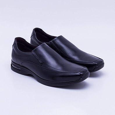 d5d6bf41f Sapato Masculino Social Preto/Liso Democrata - 448023: Amazon.com.br ...