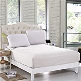 Philly Linens White Solid Hotel Brand 1-Piece Extra Deep Pocket Fitted Sheet Fit Up to 18 Inches Deep Pocket Queen Size