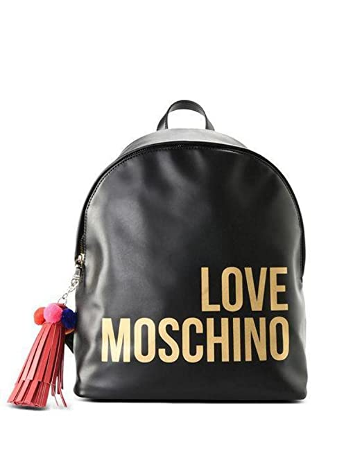 def3975bd6 BORSA DONNA LOVE MOSCHINO ZAINO ECOPELLE SOFT GRAIN COL. NERO BS18MO126:  Amazon.it: Abbigliamento
