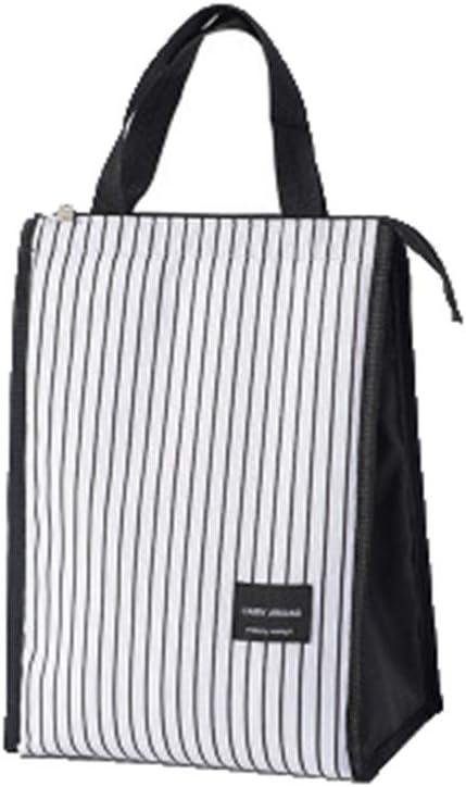 K/ühltasche Einfache Gestreifte Tragbare Lunchpaket Bedruckte Picknicktasche B/üro Reise Camping Picknick Outdoor Barbecue Lunchtasche Lunchtaschen Isoliert Handtasche Isoliertasche