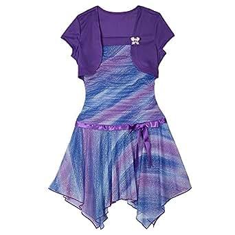 Amazon.com: IZ Byer Girl Layered Look Party Dress W