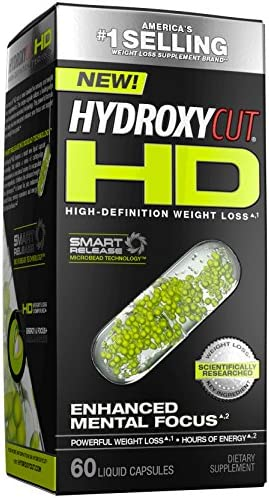 Weight Loss Pills for Women & Men | Hydroxycut HD | Weight Loss Supplement Pills | Focus Supplement + Energy Pills | Metabolism Booster for Weight Loss | Weightloss & Energy Supplements | 60 Pills
