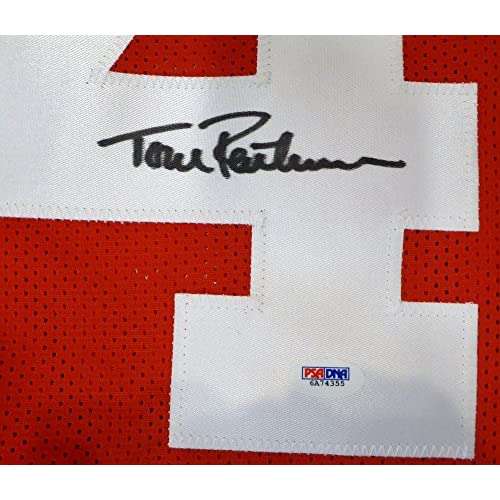 cheaper b8f73 3131a San Francisco 49ers Ronnie Lott Signed Autograph Red Jersey ...