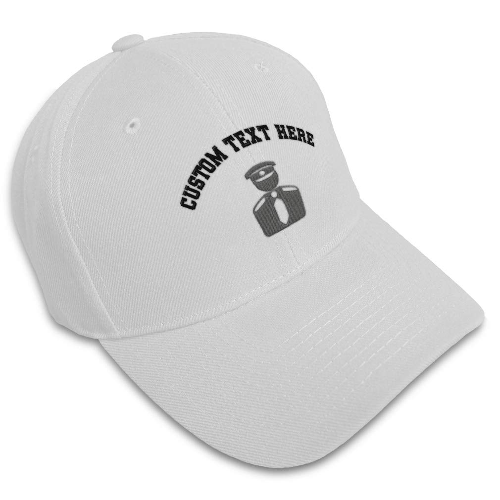 Custom Baseball Cap Grey Security Officer Embroidery Dad Hats for Men /& Women