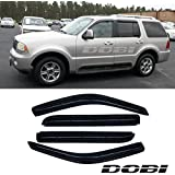 VioletLisa 4pcs Front Rear Smoke Sun/Rain Guard Vent Shade Window Visors For 02-10 Ford Explorer Mercury Mountaineer 03-05 Lincoln Aviator 4-Door SUV Only (Expect Sprot Trac or 2-Door Model)