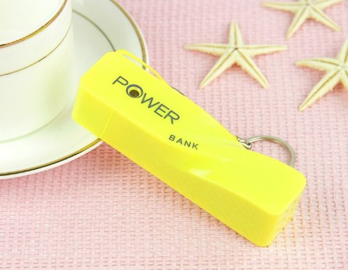 Power Bank External Battery Charger l Battery Charger By Power Bank for Iphone 5s, Galaxy S4 (Yellow)