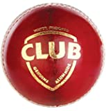 SG Club Leather Cricket Ball, Pack of 2 (Red)