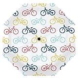 Cooper girl Colorful Bikes Umbrella Sun Rain Travel Umbrella with UV Protection for Kids Girl Boys