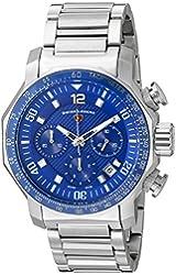 Swiss Legend Men's 'Blue Geneve' Swiss Quartz Stainless Steel Casual Watch (Model: 16187SM-33)