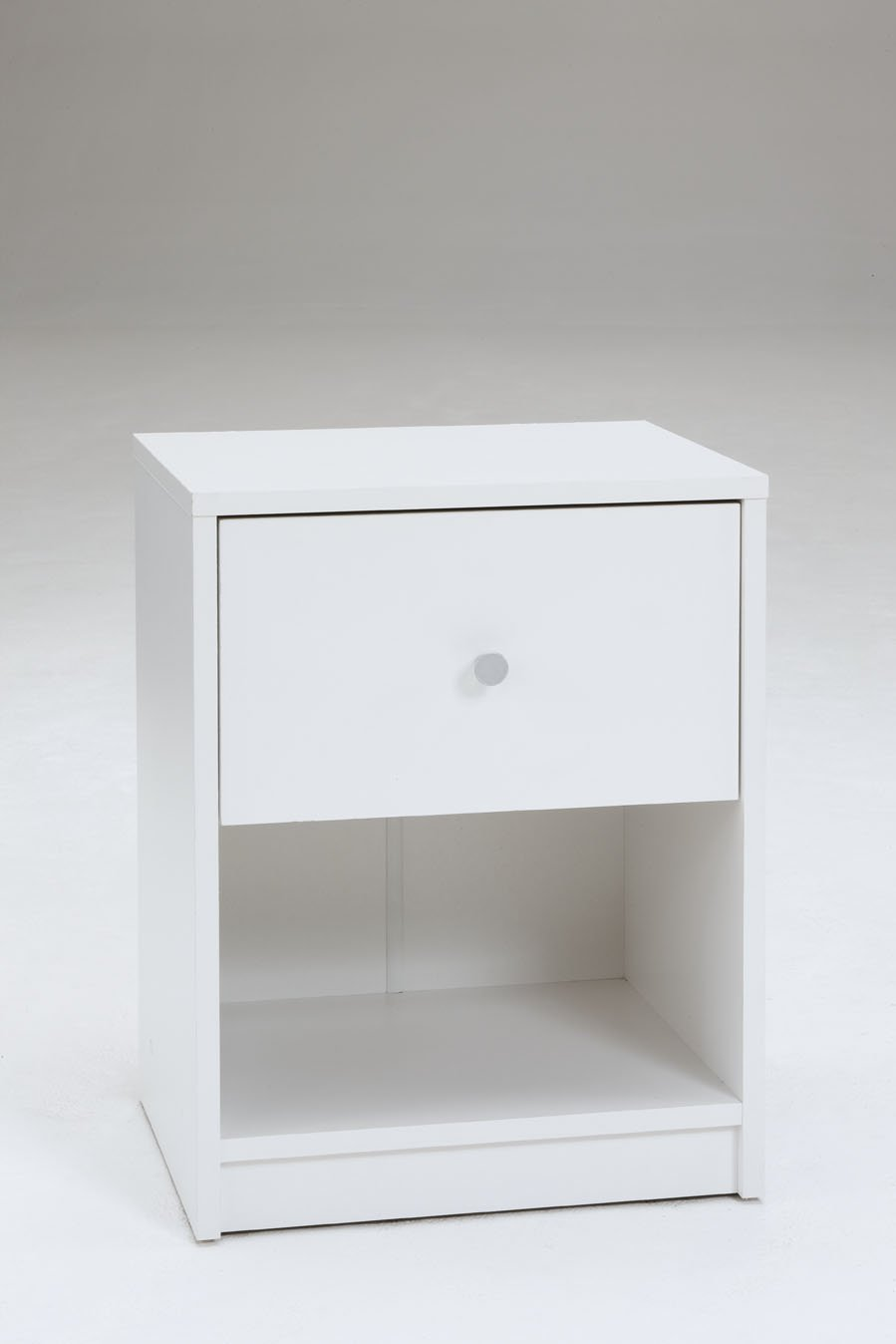 Tvilum 7033149 Portland 1 Drawer Nightstand, White by Tvilum