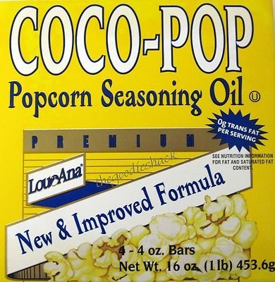 Coco-Pop Popping Popcorn Seasoning Coconut Oil Bars, 16 Oz