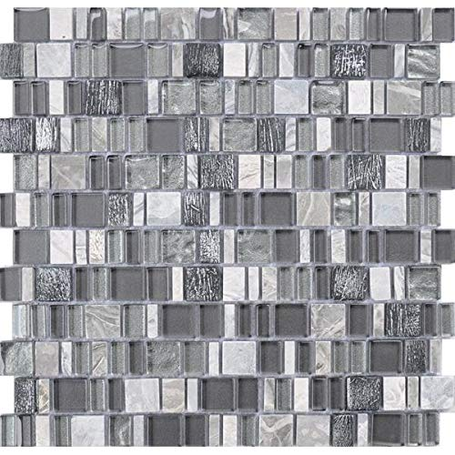 - 10 Square Foot Box of Karma Stone and Glass Mosaic Tiles - Bliss
