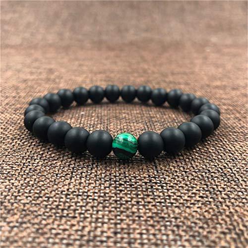 Rgfitv 2Pieces/Set 8Mm Natural Stone Beads Sets Weave Braiding Macrame Couple Bracelet for Men & Women Yoga Jewellery BA-0253