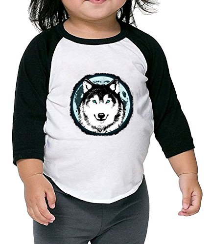 Price comparison product image ReRabbit wolf in the moon Kids' comfort 3 / 4 sleeve T-shirts black