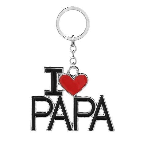 BESTOYARD Llavero del día de padre I LOVE PAPA Llavero ...