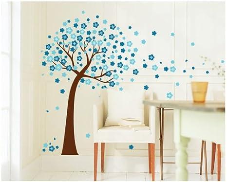 Colourido World Flores Azules árbol Arco Graz Design Pegatina Gr