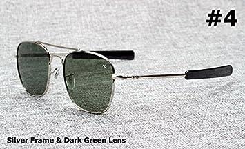 Aprigy Fashion Army Military AO Pilot - Gafas de sol de cristal óptico americano de 54 mm, 4