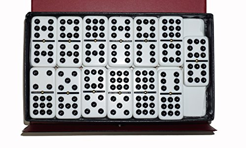 Dominoes Double 9 Nine Jumbo Size White Tile with - Game Spinner Domino