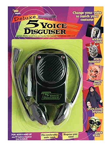 Forum Novelties Voice Disguiser with Head Set, 10 Different (Deluxe Voice Changer)