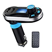 AENMIL Bluetooth Car Mp3 Player with Dual USB Charging Ports FM Transmitter Support 3.5mm Jack / SD Card / USB...