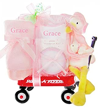 Amazon look what the stork delivered girls personalized wagon look what the stork delivered girls personalized wagon baby gift basket negle Gallery