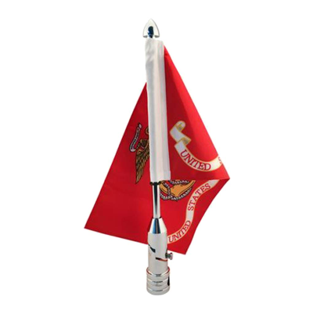perfk Kit Asta Bandiera con Staffa Bandiera Regolabile 6  X 9
