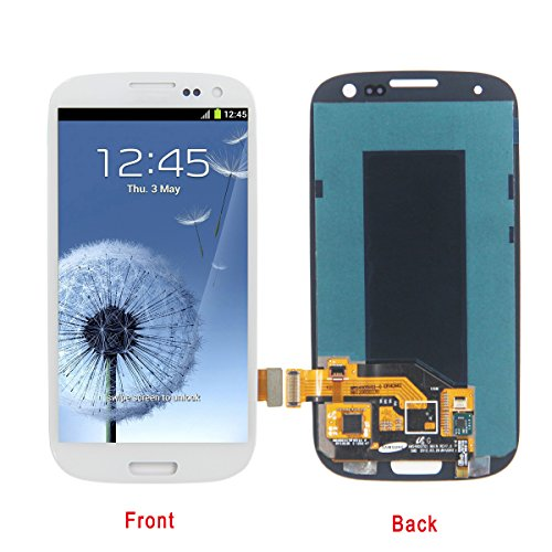HJSDtech LCD Display Screen Touch Screen Digitizer Assembly Replacement for Samsung Galaxy S3 Ill i9300 SCH-i535 R530 Sprint L710 T999 i747 i9305 (White) (Lcd Galaxy S3 Samsung Display)