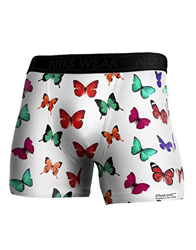 TooLoud Pretty Butterflies AOP Boxer Brief Dual Sided Large All Over (Butterfly Print Boxers)