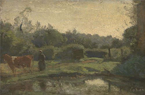 oil-painting-jean-baptiste-camille-corot-summer-morning-printing-on-polyster-canvas-8-x-12-inch-20-x