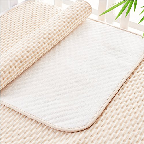 YOCOU Waterproof Sheet ,Natural Colored Cotton and Bamboo Fiber,Double-sided Available,Slip and Noise Reducing Design,Instantaneous Absorbency and Washable for Baby Child and Adults (Bamboo Sofas)