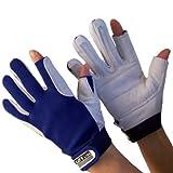 Navyline Segelhandschuhe Super Soft - 2 Finger geschnitten, Größe:L
