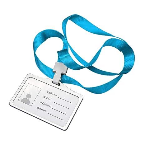 Walmeck- Titular de la Tarjeta de identificación de la Tarjeta de presentación de identificación de la aleación de Aluminio Transversal Horizontal con ...