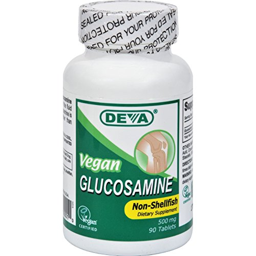 Deva Vegan Vitamins Glucosamine Tablets, 90-Count Bottle