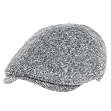 WITHMOONS Mens Flat Cap Simple Classic Bocaci Wool Ivy Hat SL3436