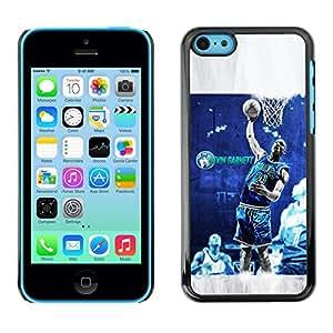 BasketCase Kevn Garnett Lone Wolf Basketball Apple Iphone 5C / / Slim 360 Protection Case Cover PC / Aluminium Protector Shell Rugged