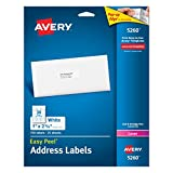 """Office Products : Avery Easy Peel Address Labels for Laser Printers 1"""" x 2-5/8"""", Pack of 750 (5260)"""