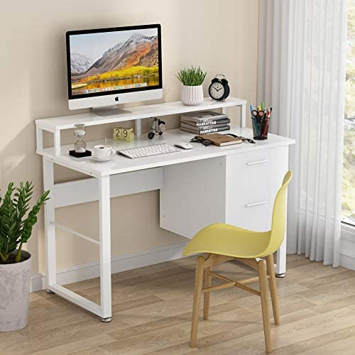 Tribesigns 47 Inches Computer Desk - a good cheap modern office desk