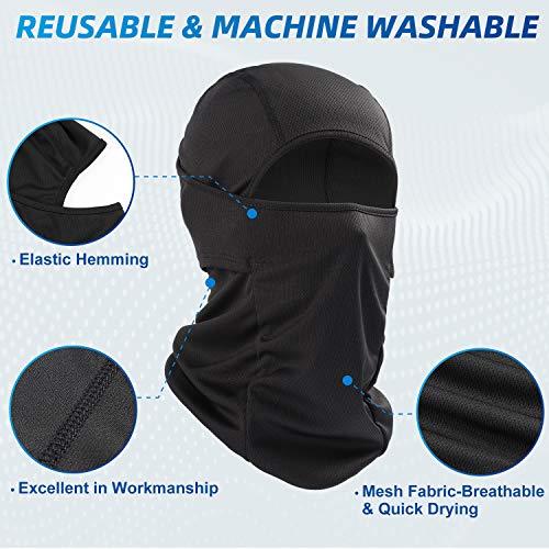 AstroAI Balaclava Face Mask Ski Mask-UV Protection Windproof Dustproof Mask for Men Women Skiing Snowboarding Cycling Hiking Black Mask