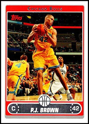 2006-07 Topps #212 P.J. Brown NM-MT Chicago Bulls Official NBA Basketball Card