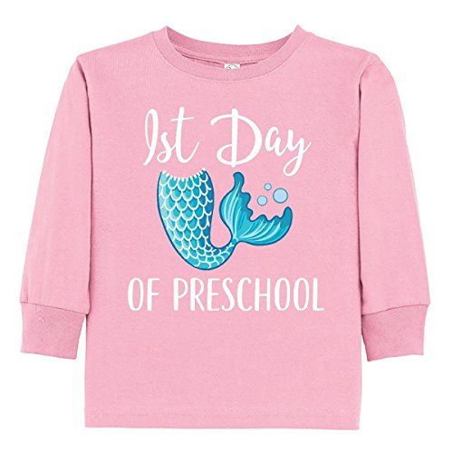 inktastic - 1st Day of Preschool Girls Toddler Long Sleeve T-Shirt 3T Pink 31717 ()