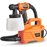 VonHaus 800W Paint Sprayer - Spray Gun for Fencing, Ceilings, Walls, Floors & More – Shoulder Strap, 1200ml Cup & up to 70 Din-S Viscosity