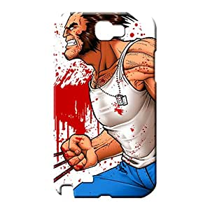 samsung note 2 Excellent Tpye Eco-friendly Packaging mobile phone carrying skins white tshirt wolverine and blood splatters